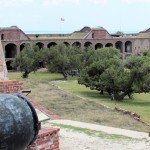 inside of Fort Jefferson from upper level - Dry Tortugas, FL - 2012-04-26
