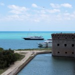 moat around Fort Jefferson with Florida Fish Finder in background - Dry Tortugas, FL - 2012-04-26