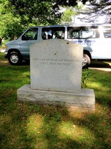 Roger Tory Peterson headstone - Jamestown NY