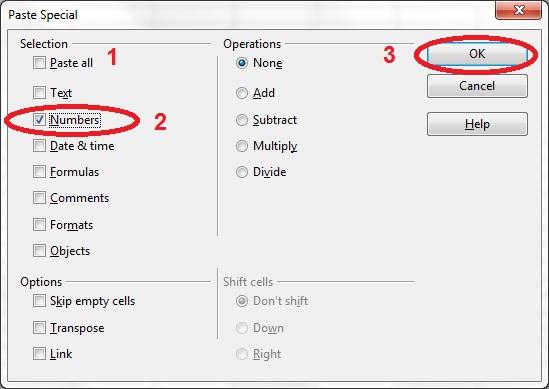 12 spreadsheet paste special dialog box