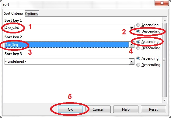 15 spreadsheet sort dialog box