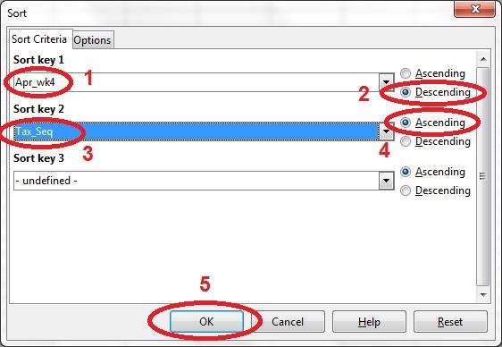 15 spreadsheet sort dialog box