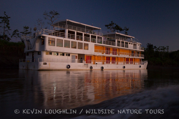 Riverboat on the Amazon River. Photo by Kevin Loughlin / Wildside Nature Tours